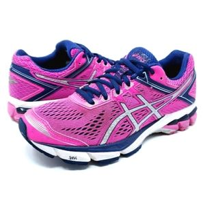 Asics GT-1000 4 Pink Size 7 Running Shoes T5A7N